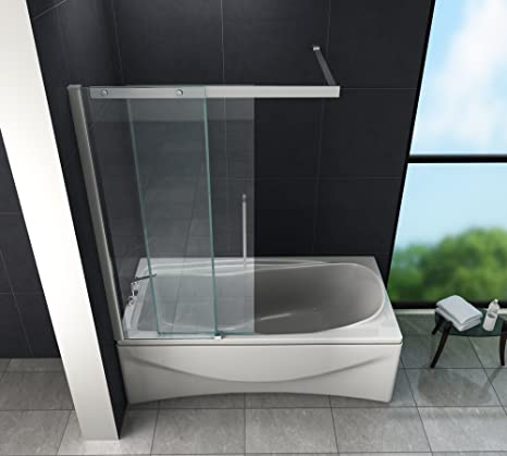 Puerta Corredera – Doze – Mampara de ducha 120 x 150 (bañera ...