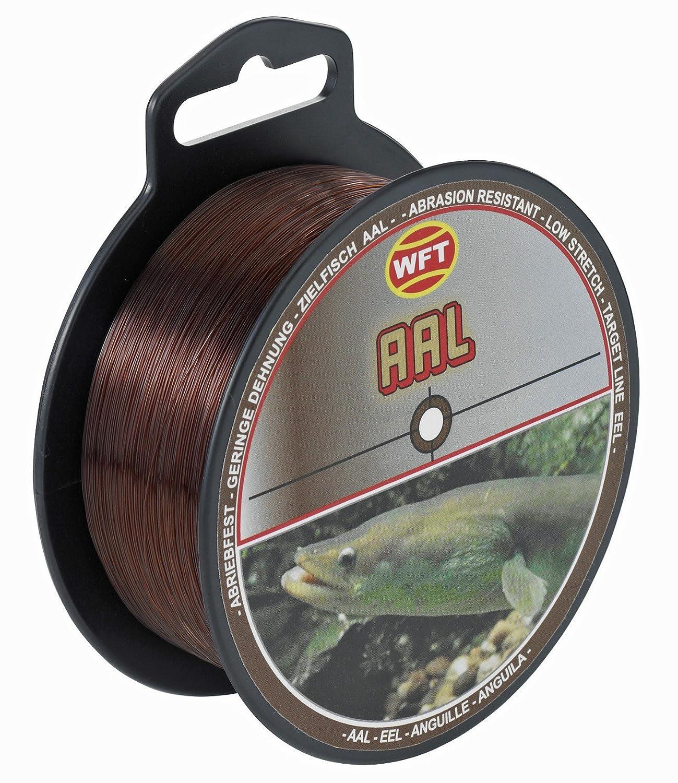 Monofilschnur Monofile Aalschnur Schnur f/ür Aale Angelschnur zum Aalangeln WFT Zielfisch Aal 250m 0,40mm 12kg braun