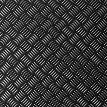 Büromöbel Grillunterlage Bodenschutzmatte Grillschutzmatte Mit Riffelblechoptik Schwarz Kleinmöbel & Accessoires