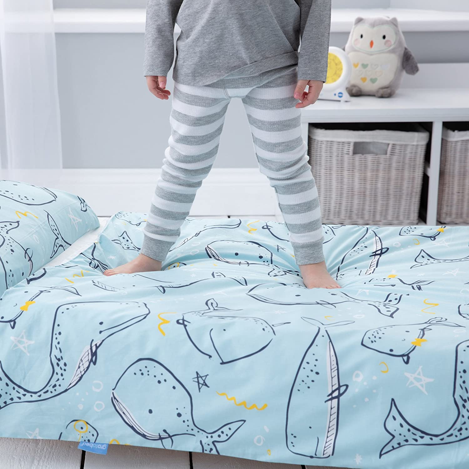 Parure de lit 3 en 1 Gro To Bed Whale Watching 140x70