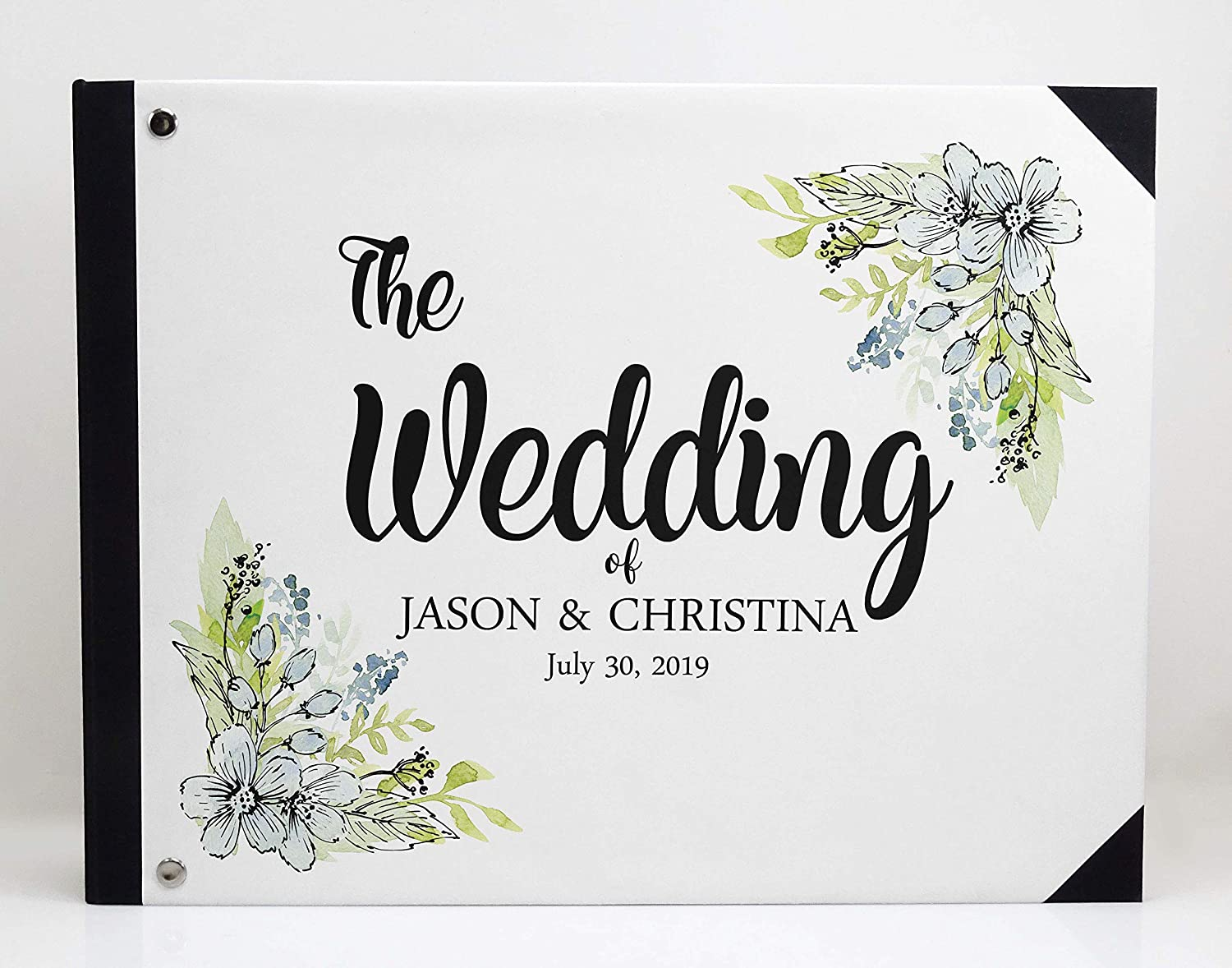 Darling Souvenir Multicolor Leaves Wedding Guest Book Hardbound Guest Sign-in Book Guest Registry Guestbook-9 x 12 Inches