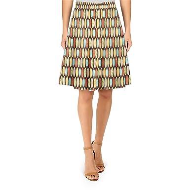 Tablas de surf estilo Retro a-line falda - Amarillo -: Amazon.es ...