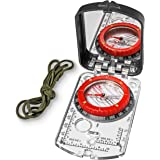 Sighting Compass Mirror Adjustable Declination - Boy Scout Compass Hiking Survival - Map Reading Compass Orienteering - Mirro