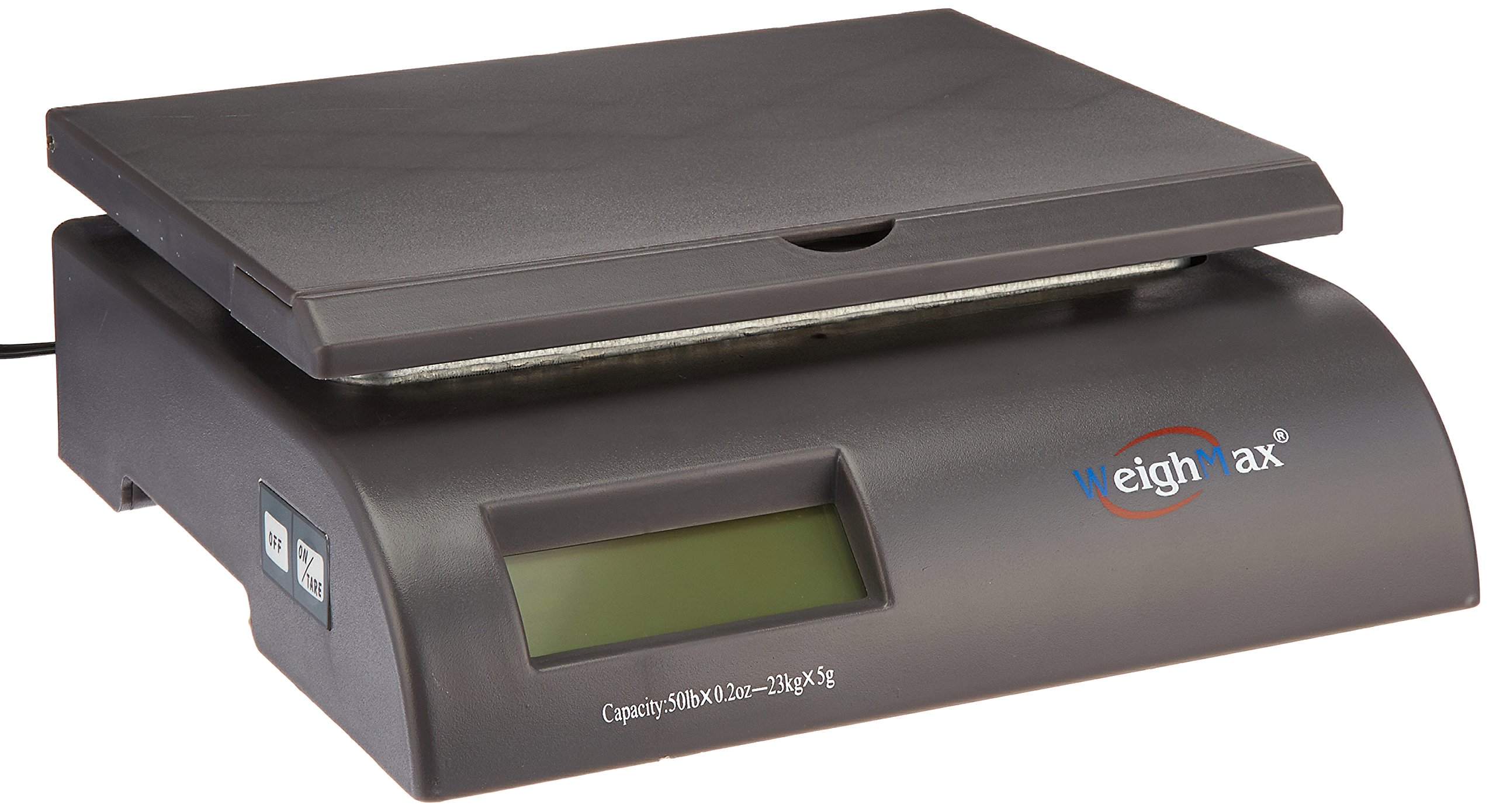 Weighmax Capacity Postal Shipping Scale, Battery and AC Adapter Included, Gray (W-2822-50-GRAY)