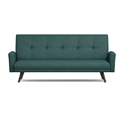 Handy Living Melbourne Click Clack Futon Sofa Bed, Peacock Blue