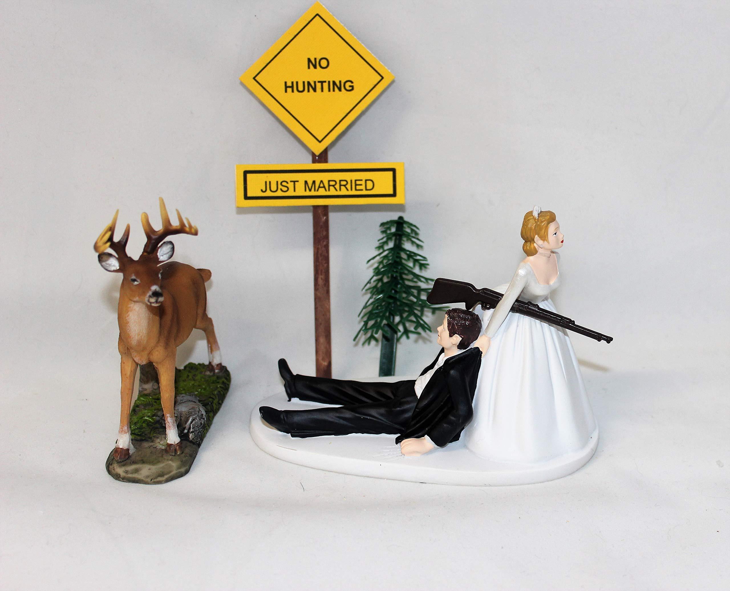 Camo Redneck Wedding Deer sign Hunter Hunting Cake Topper