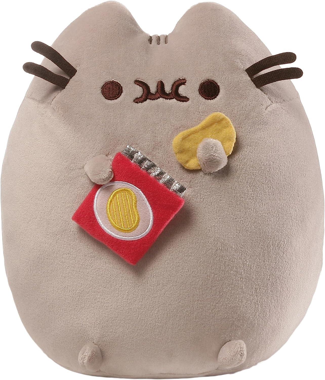 "GUND Pusheen Snackables Potato Chip Cat Plush Stuffed Animal, Gray, 9.5"""
