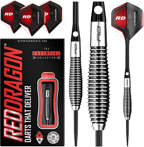 RED DRAGON Lethal Magic 26g Tungsten Darts Set with Flights and Stems: Amazon.es: Deportes y aire libre
