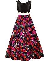 SKY WORLD Girl's Digital Printed un-stitched Lehenga choli (8-12 Yrs) (SW_584)
