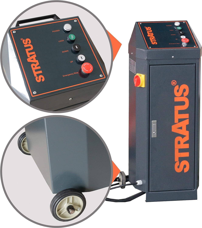 110V STRATUS Portable Open Center Automatic Lock Release Mid-Rise Scissor Lift SAE-MS8000E