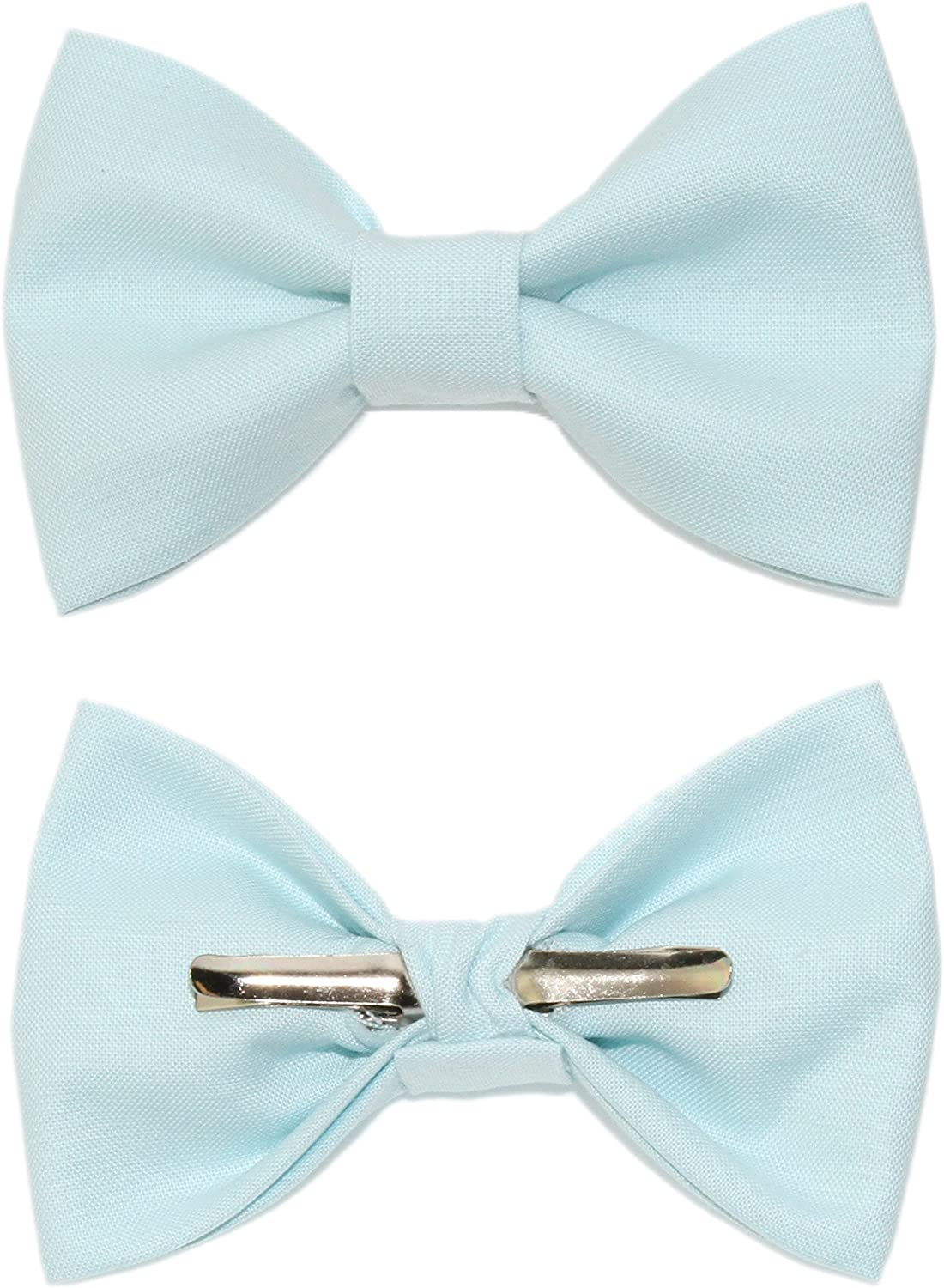 Boys Baby Blue Clip On Cotton Bow Tie Bowtie by amy2004marie