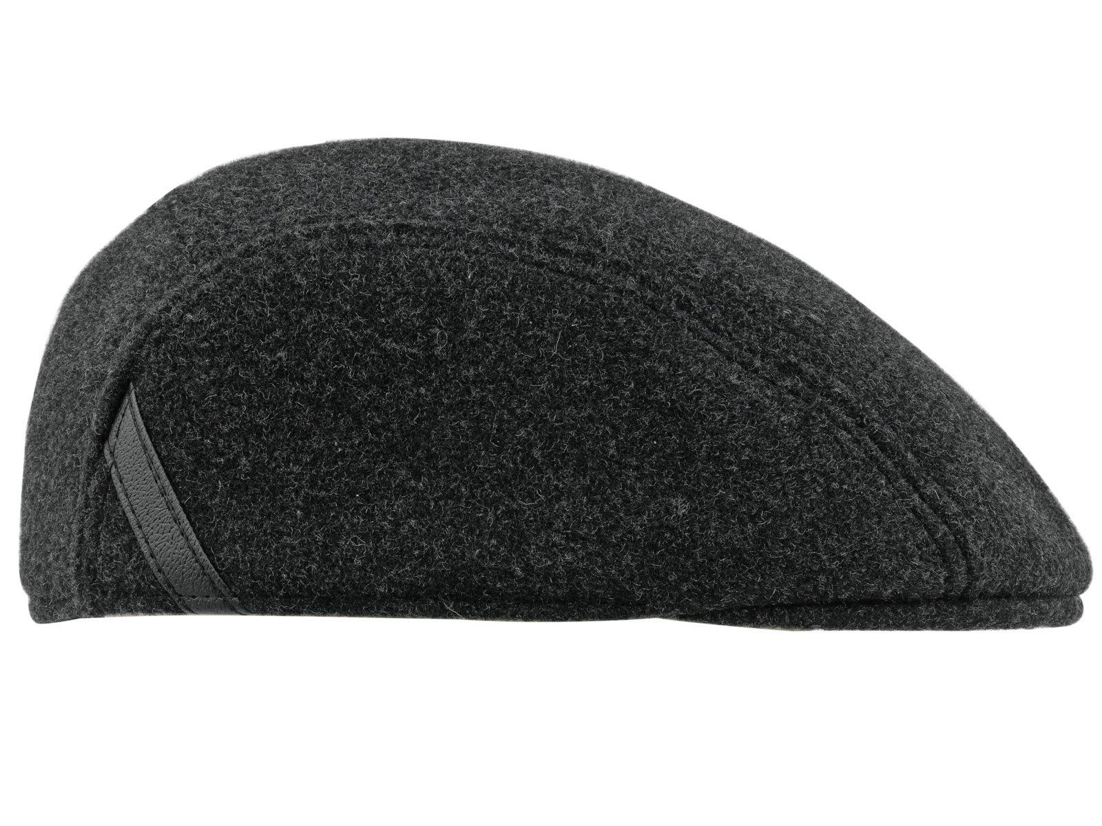 Sterkowski Warm Wool Blend Petersham Ivy League Flat Cap with Earflap
