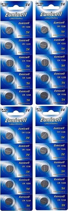 20 X Cr1220 Lithium Knopfzelle 3v Dl1220 Ecr1220 Elektronik