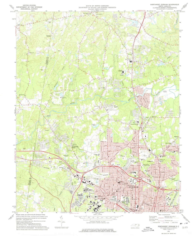 Amazon.com : YellowMaps Northwest Durham NC topo map, 1 ...