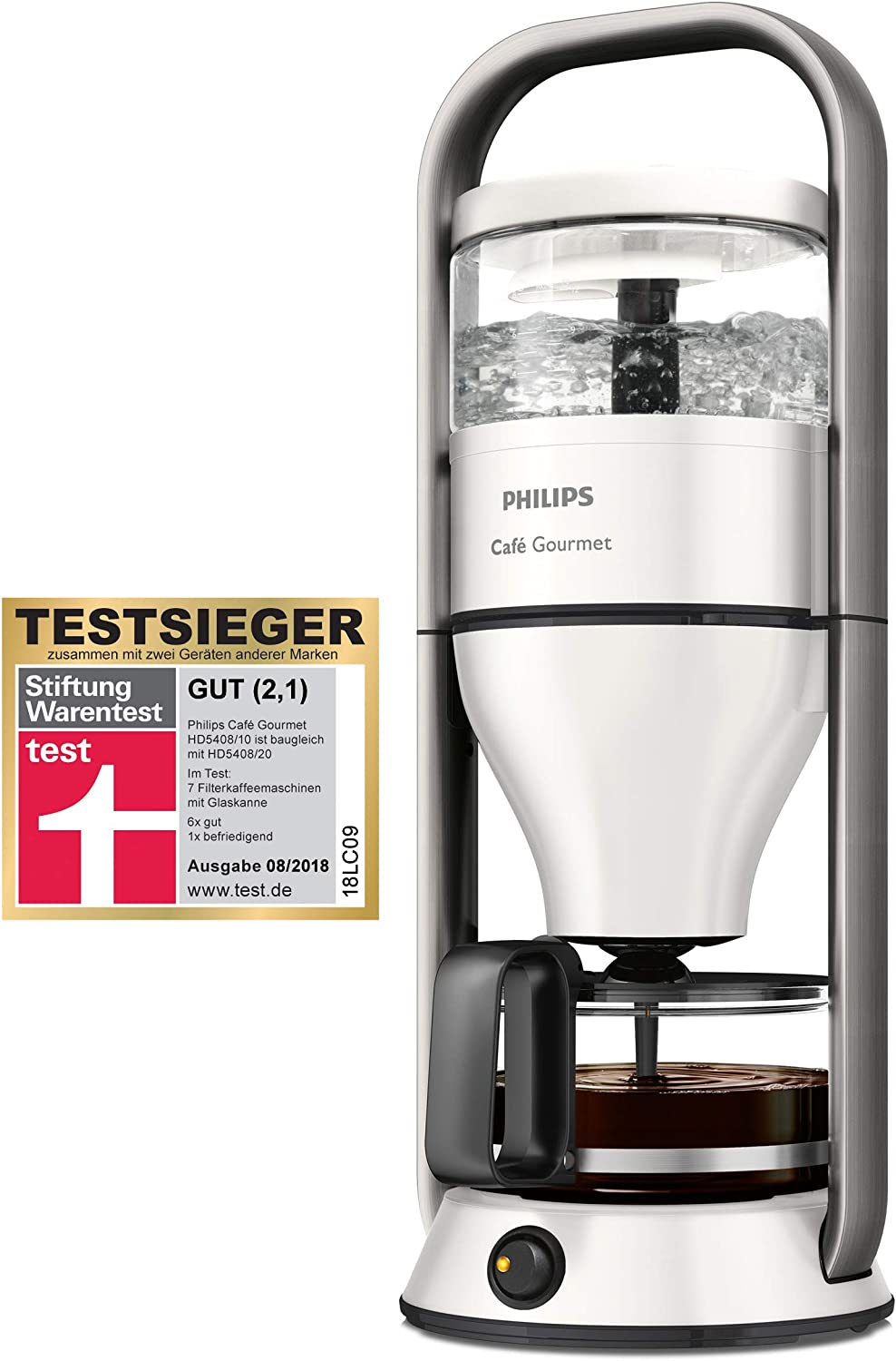 Philips Café Gourmet HD5408/10 - Cafetera (Independiente, Cafetera ...
