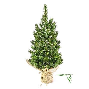 Weihnachtsbaum Künstlich 80 Cm.Artplants Künstlicher Tannenbaum Im Jutesack 45 Cm Kunsttanne Weihnachtsbaum Künstlich