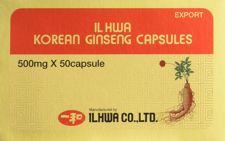 Il Hwa, Ginseng Coreano, 500 mg x 50 capsulas