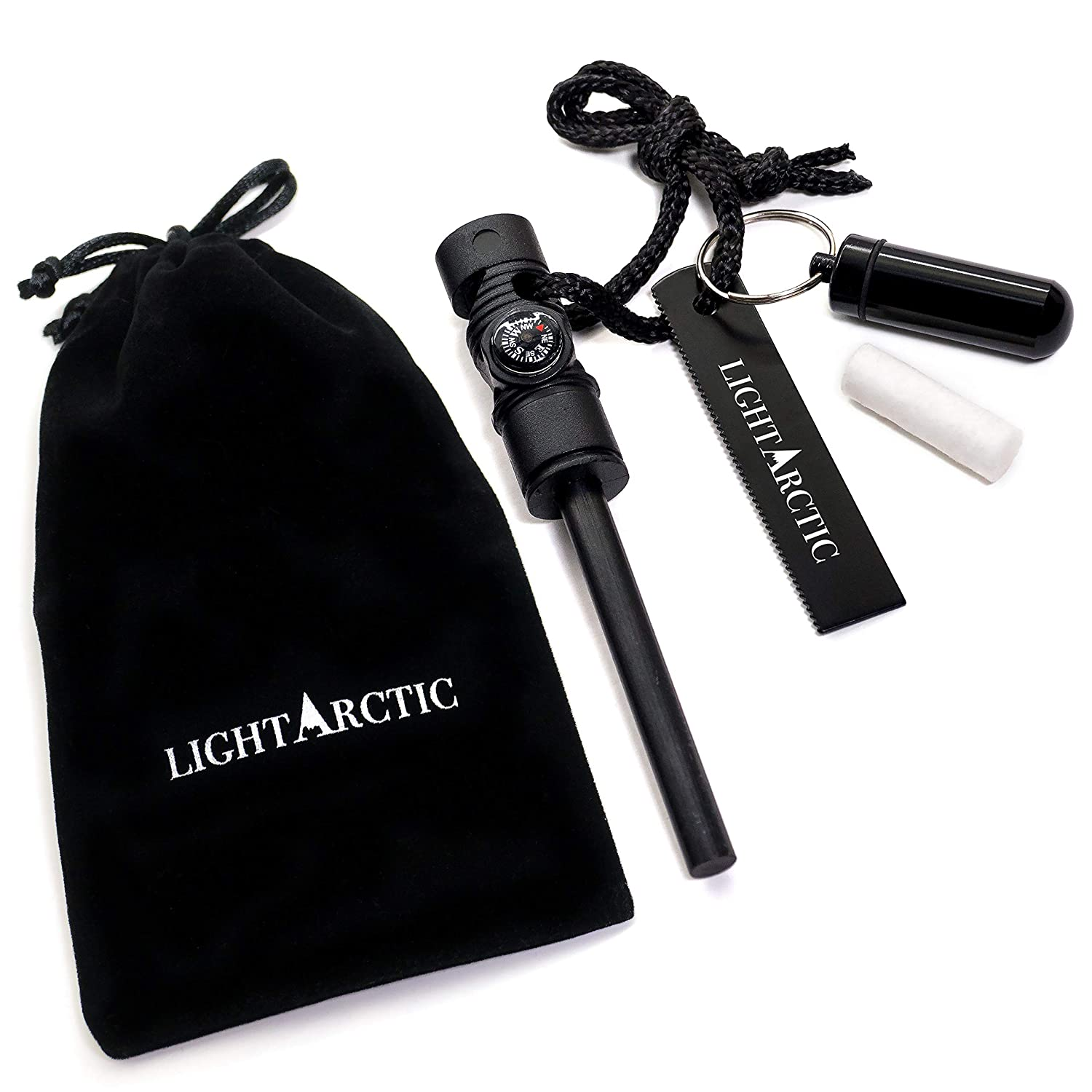 2. LightArctic Magnesium Fire Starter Survival Multi-Tool with Tinder