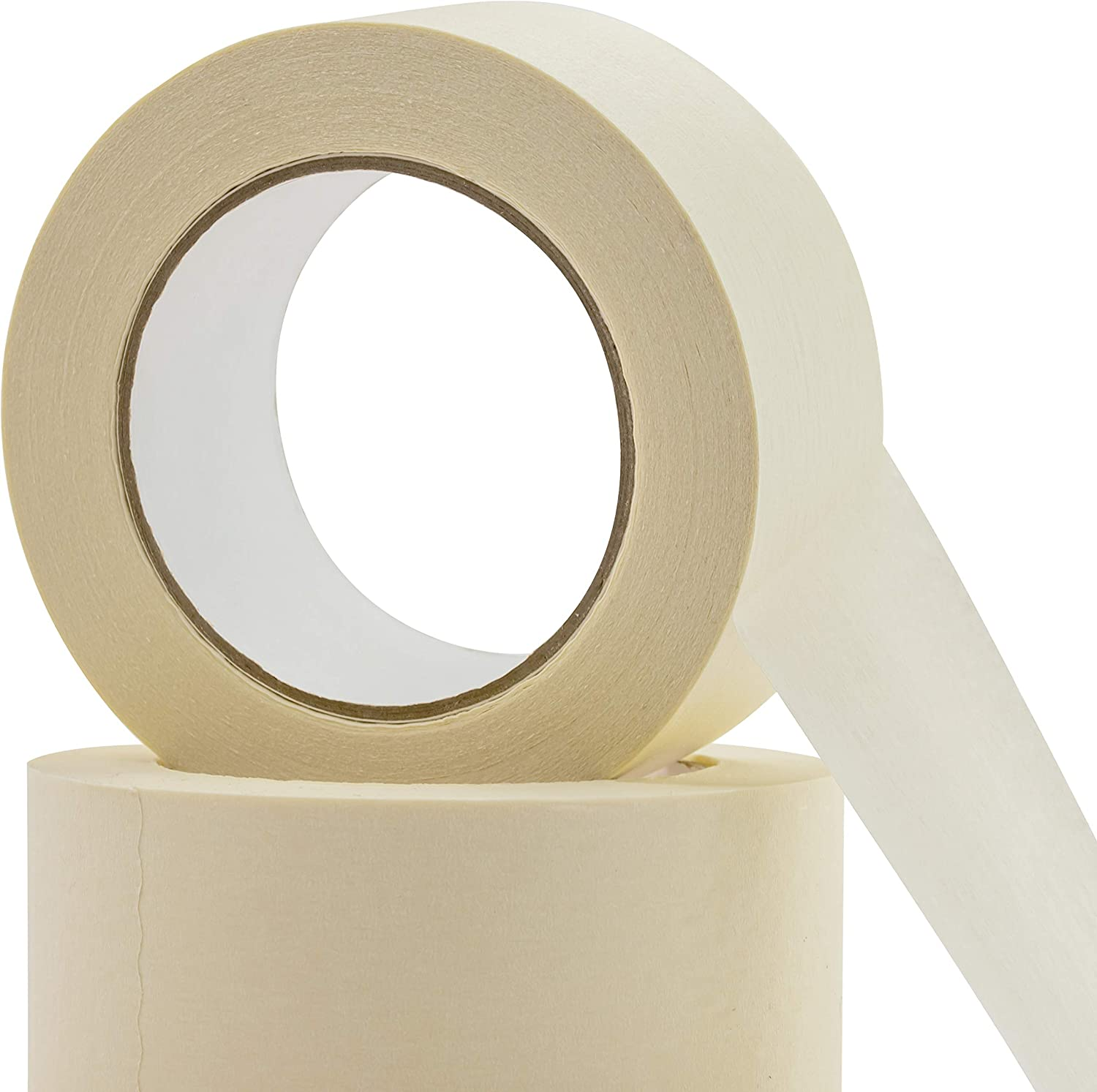 Easy-Tear Pro-Grade Removable Painters Tape Great for Home Clean No-Residue 1 Inch 60 Yard Masking Tape 6 Pk Drip-Free Painting with Wide Crepe Paper Rolls Office or Commercial Contractor