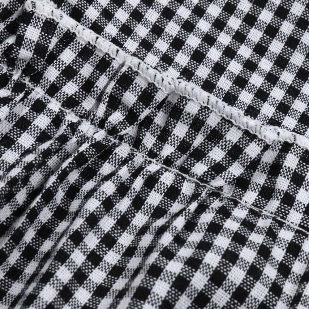 Sleeveless Plaid Sling Halter Top KaiCran Baby Girl Cotton Clothing Sets Pants Sets for Summer