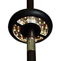 Patio Umbrella Lights Battery Operated, 3-Ways Switch, ZHONGXIN Warm White LEDs-Dual Up & Down Directional Lighting, Umbrella Pole Light for Patio Umbrellas, Camping Tents or Outdoor Use …