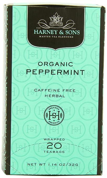 Harney & Sons Herbal Tea, Organic Peppermint, 20 Tea Bags