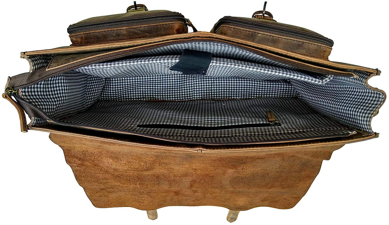 Cuero Retro Buffalo Hunter Leather Laptop Messenger Bag Office Briefcase College Bag (18 inch) by cuero (Image #3)