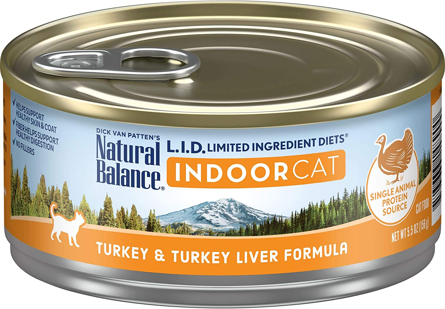 Natural Balance L.I.D. Limited Ingredient Diets Wet Cat Food for Indoor Cats, 5.5 Ounce (Pack of 24)