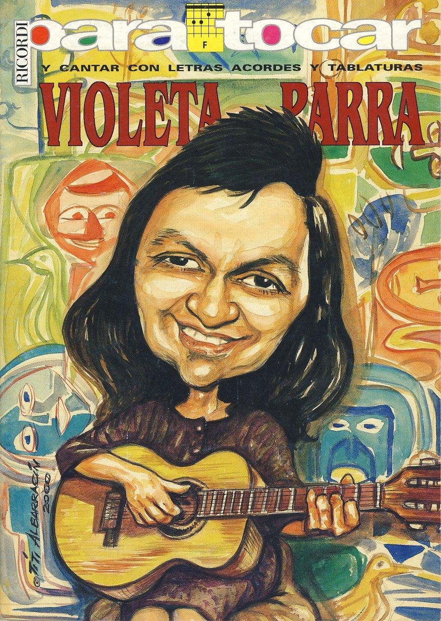 VIOLETA PARRA - Cancionero Letras y Acordes para Guitarra: Amazon ...