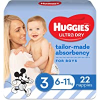 Huggies Ultra Dry Nappies Boy Size 3 (6-11kg) 22 Count