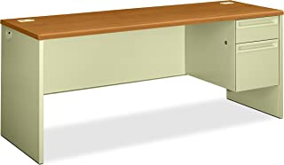 product image for HON Right Pedestal Credenza with Lock, 72 by 24 by 29-1/2-Inch, Harvest Charcoal