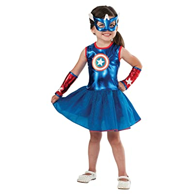 Rubie's Marvel Classic Child's American Dream Costume, Toddler, Blue: Toys & Games