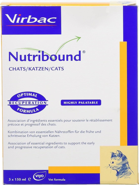 Virbac Nutribound para gatos 3 botellas de 150 ml
