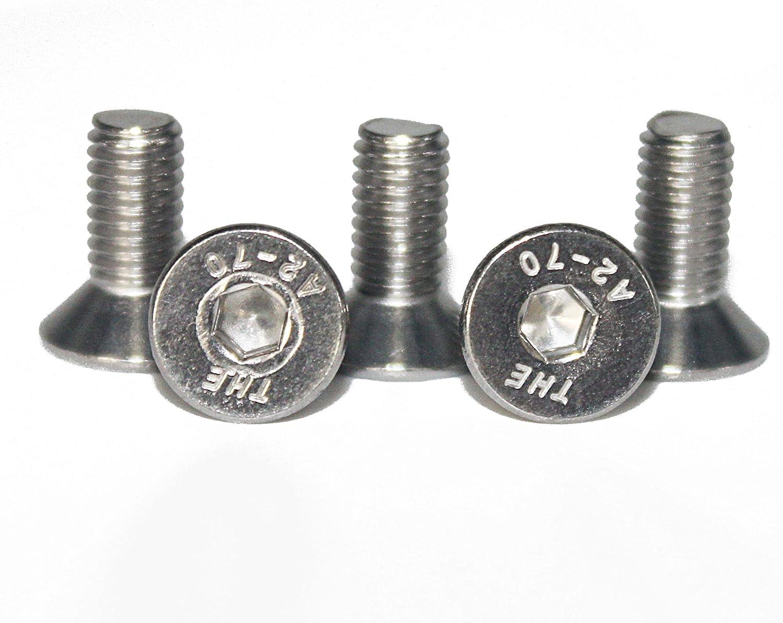 Gewindeschrauben Vollgewinde rostfrei - DIN 7991 Eisenwaren2000 M8 x 20 mm Senkkopfschrauben mit Innensechskant 10 St/ück Edelstahl A2 V2A ISO 10642 Senkkopf Schrauben