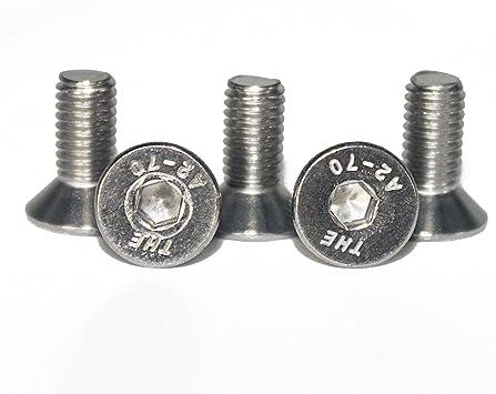 M4 x 8 mm Senkkopfschrauben mit Innensechskant Vollgewinde Eisenwaren2000 Gewindeschrauben Edelstahl A2 V2A 10 St/ück ISO 10642 Senkkopf Schrauben - DIN 7991 rostfrei