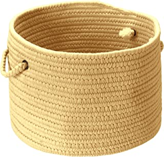 product image for Colonial Mills BR34 14 by 14 by 10-Inch Boca Raton Solid Storage Basket, Pale Banana