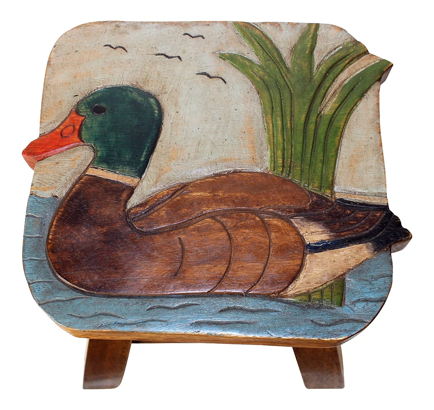 Amazon.com Mallard Duck Hand Carved and Hand Painted Wooden Foot Stool Kitchen u0026 Dining  sc 1 st  Amazon.com & Amazon.com: Mallard Duck Hand Carved and Hand Painted Wooden Foot ... islam-shia.org