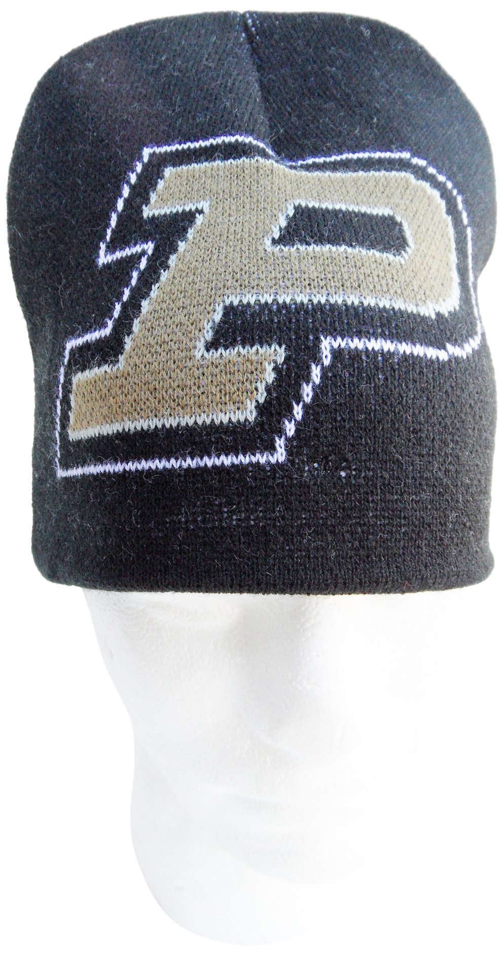 NCAA Purdue Boilermakers Jacquard Knit Hat, One Size, Brown