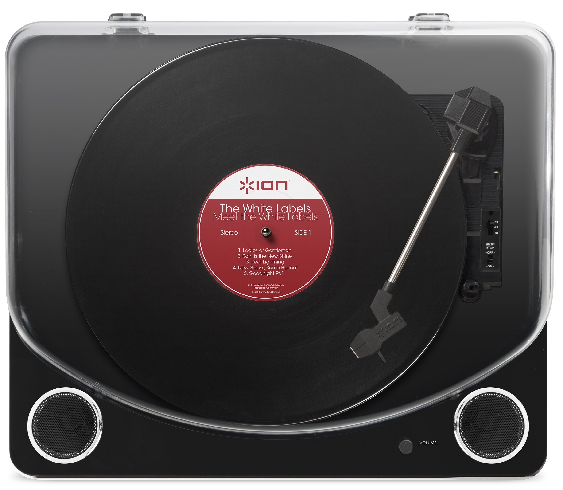 ION Audio Max LP – Three Speed Vinyl Conversion Turntable with Stereo Speakers, USB Output to Convert Vinyl Records to Digital Files and Standard RCA & Headphone Outputs – Piano Black Finish by ION Audio (Image #3)