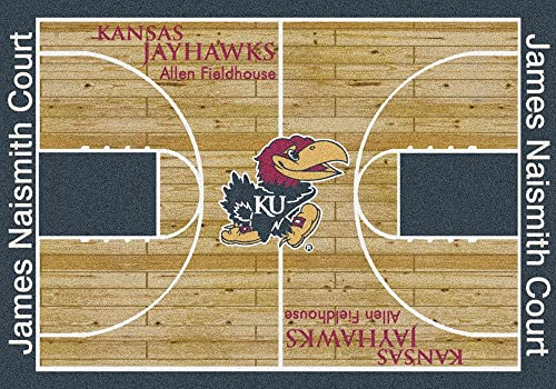 Kansas Jayhawks College Basketball 5×7 Rug from Miliken