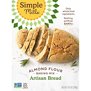 Simple Mills Almond Flour Mix, Artisan Bread, 10.4 oz (PACKAGING MAY VARY)