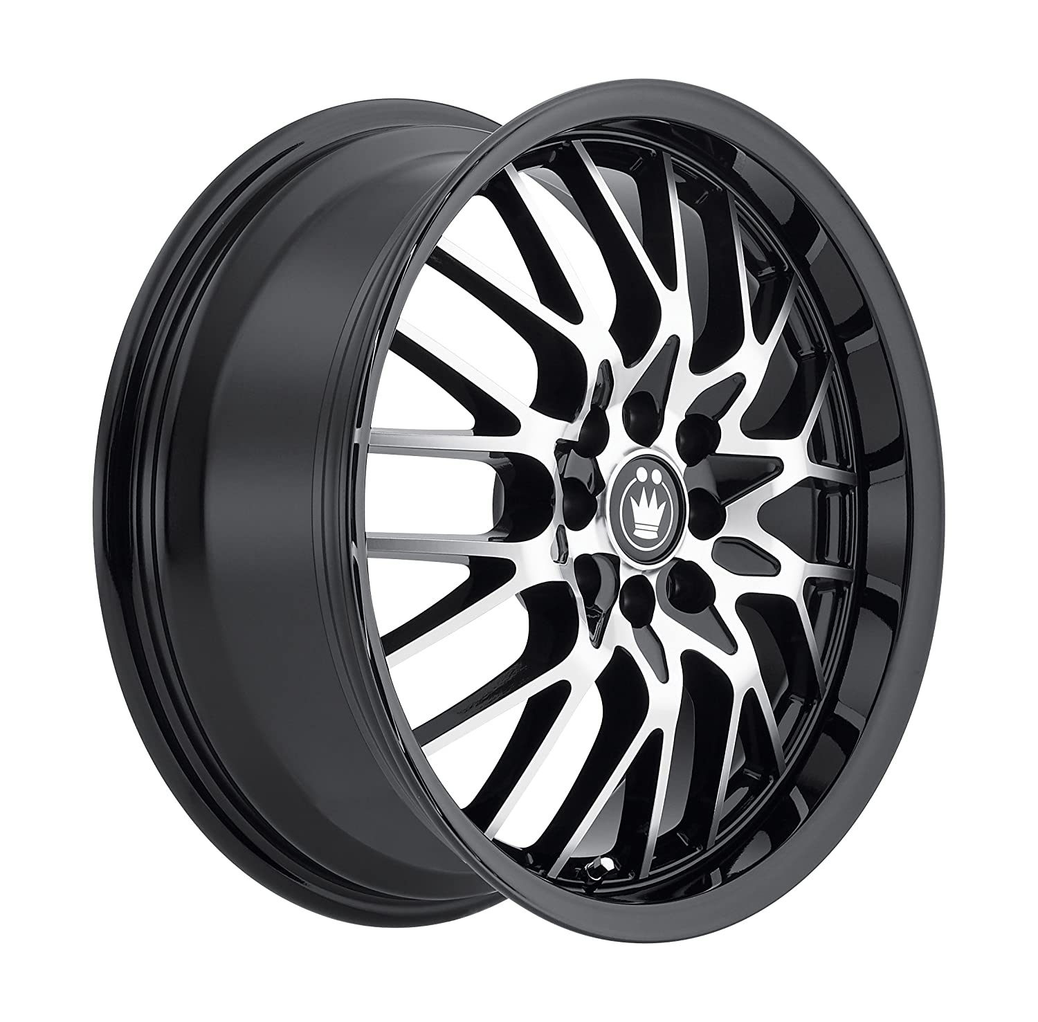 15x6.5//4x100mm Konig Lace Black Wheel with Machined Face
