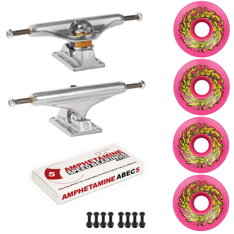 Independent Trucks Santa Cruz Skateboard 66mm OG Slime Wheels Package Reds