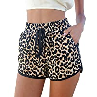 Women's Fashion Summer Leopard Beach Shorts Casual Short Pants