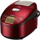 日立 炊飯器 5.5合 圧力スチームIH式 RZ-AV100M R  3段階炊き分け機能搭載 高伝熱 打込鉄・釜 おいしい少量炊き 蒸気カット