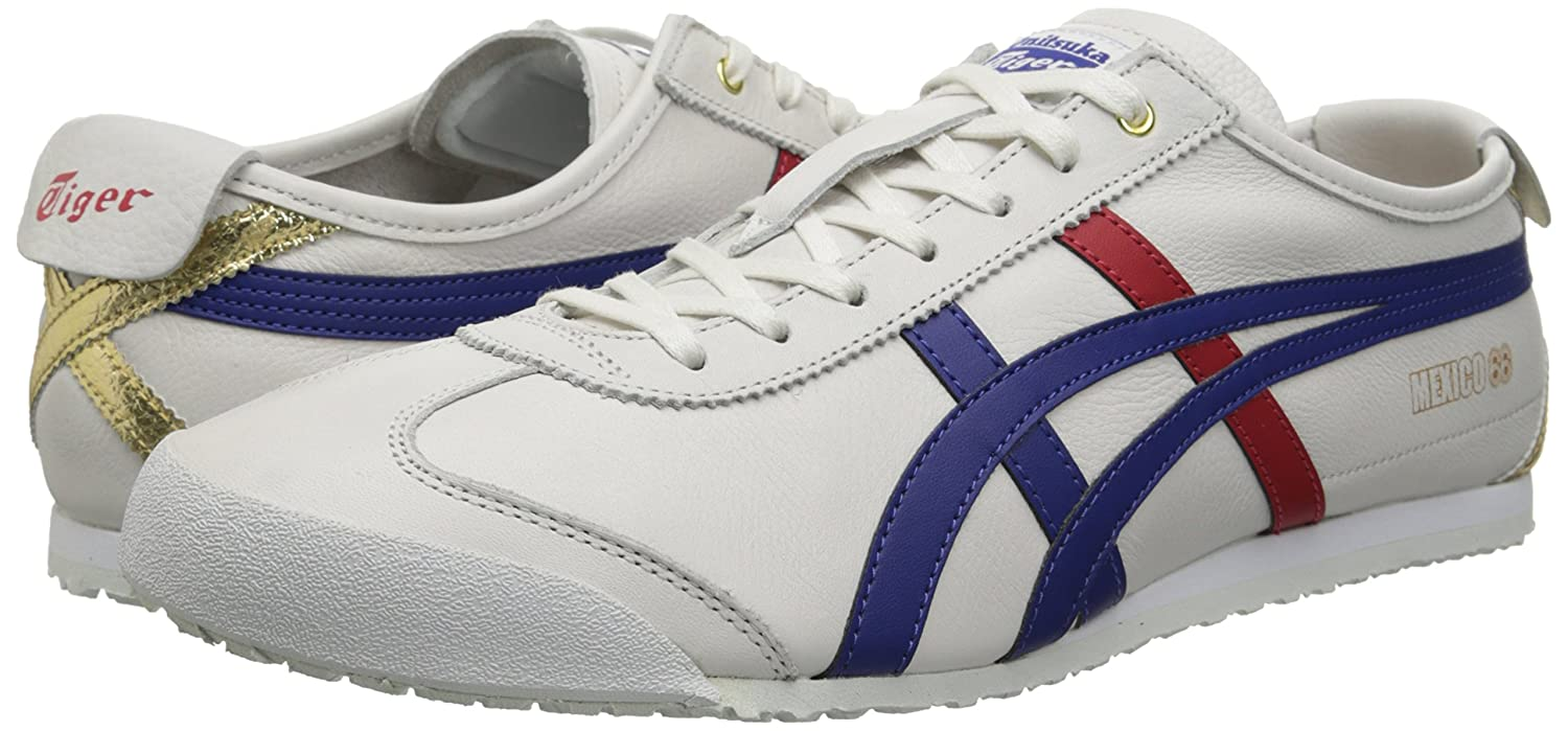 Onitsuka Tiger Mexico 66 Fashion Sneaker B00NVQFO92 8.5 M US Women / 7 M US Men|White/Dark Blue