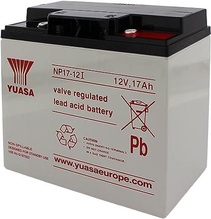 Yuasa NP17-12 Batteria 12V 17Ah batteria al piombo acido sigillate piombo  acido AGM approvazione pile tecnologia VDS: Amazon.it: Elettronica