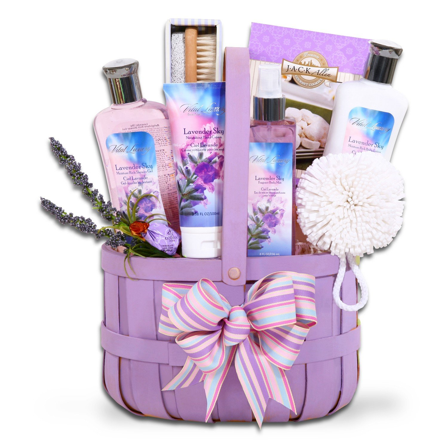 Lavender Relaxation Spa Gift Basket for Her - Perfect Gift for Easter, Mothers Day or Birthday