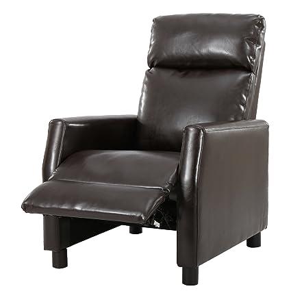 Great Deal Furniture 296609 Denise Austin Home Dagenham Brown Leather  Recliner
