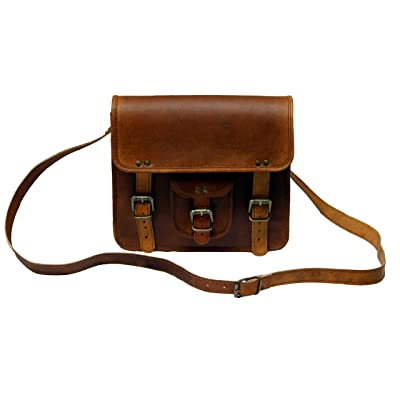 "TLC 11"" Inch Leather Messenger Bag Laptop Bag Crossbody Bags for Men & Women"